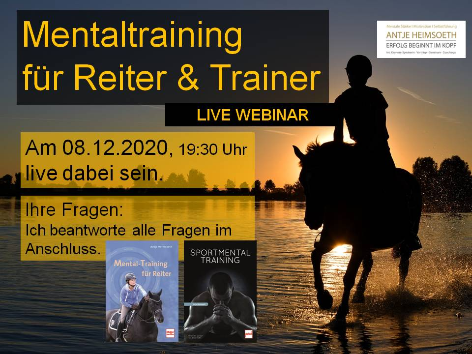 Live Webinar Reiten im Kopf® – Mentale Stärke für Reiter & Trainer