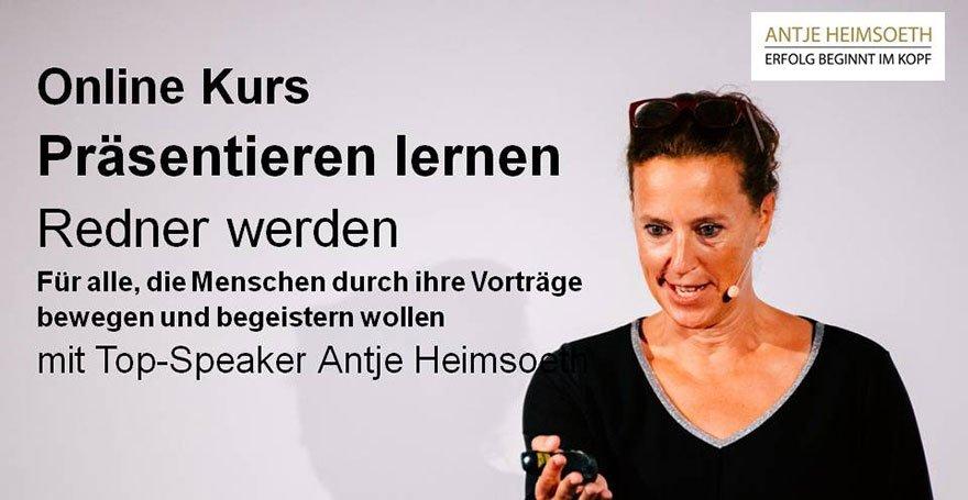 """Kundenstimme, Bewertung zum Online Kurs """"Redner werden / Speaker werden"""""""
