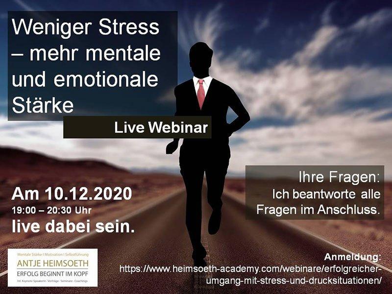 Weniger Stress – mehr mentale und emotionale Stärke