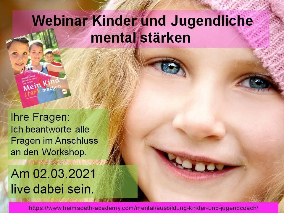 """Live Webinar """"Kinder und Jugendliche mental stärken"""""""